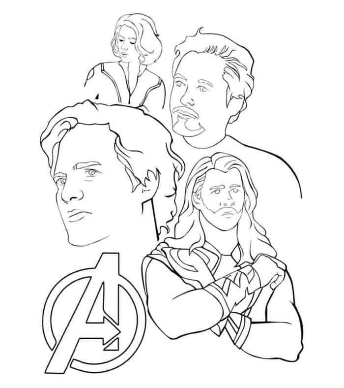 Avenger Coloring Pages In 2020 Avengers Coloring Pages Avengers
