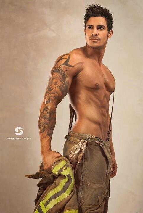 Tall Dark & Handsome. Gotta love a man in uniform!