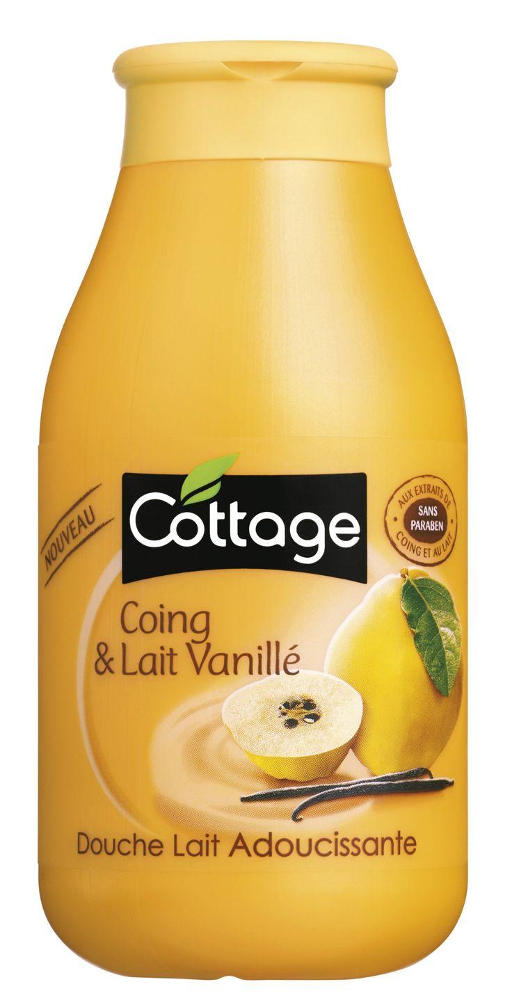 Cottage - Douche Lait Adoucissante - Coing et Lait Vanillé - 250 ml - Lot de 3