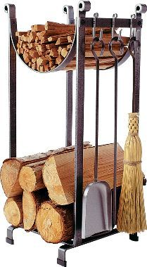Hearth Sling Log Rack with Tools : Cabela's