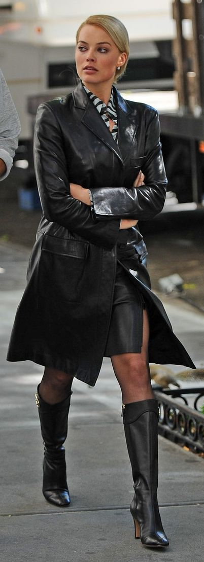 Leather Coat Daydreams: Margot Robbie in The Wolf of Wall Street
