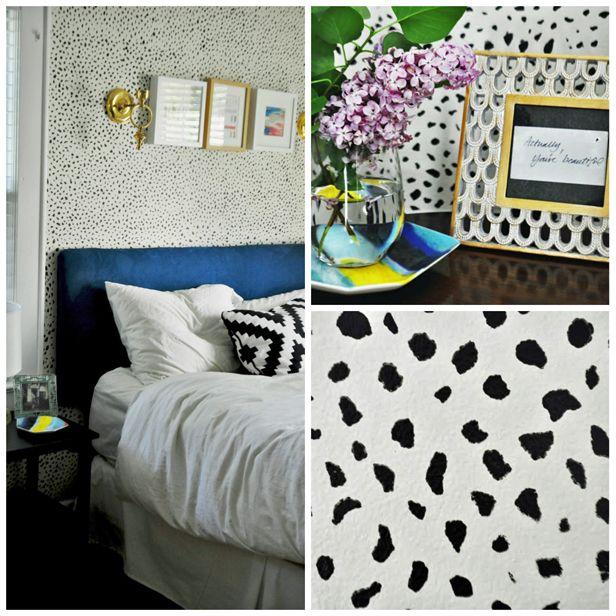 DIY Wall Stencil (http://blog.hgtv.com/design/2013/06/12/diy-wall-stencil-paint-job/?soc=pinterest)