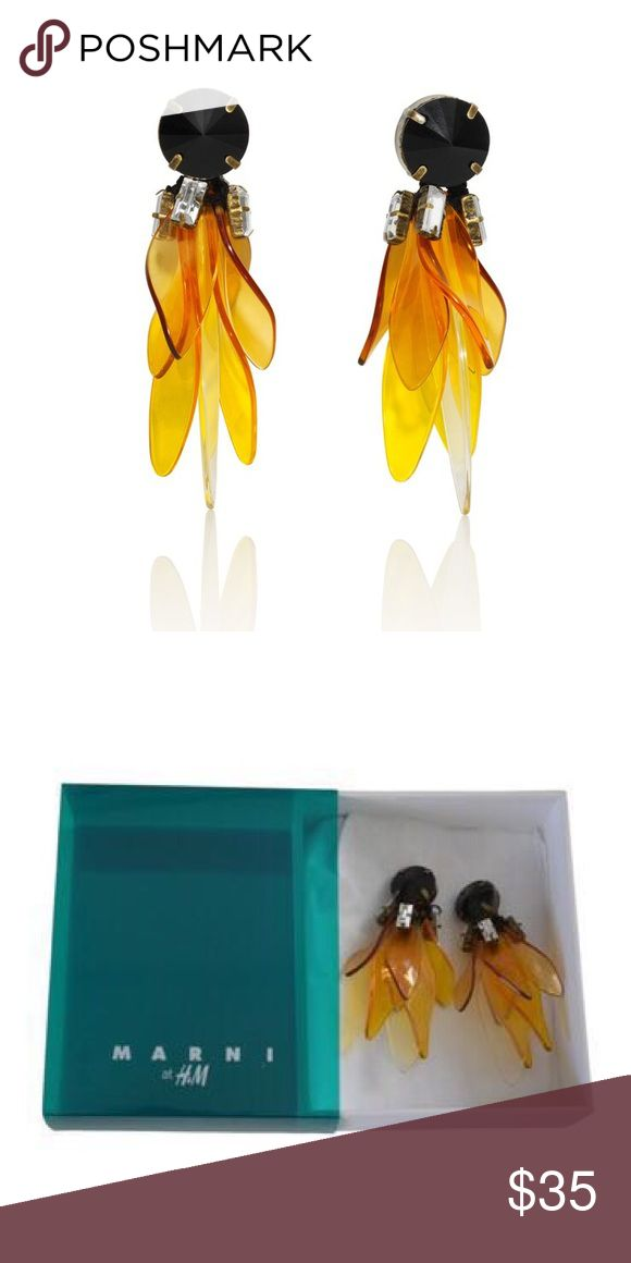 Marni for H&M Earrings Marni for H&M Earrings. Clip on earrings. NWT. Approximately 3 inches drop. H&M Jewelry Earrings