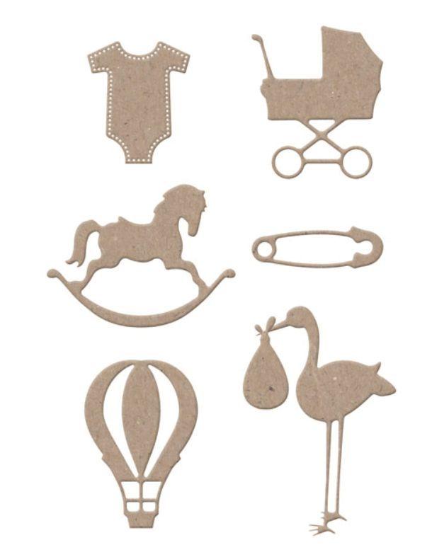 Spellbinders und Rayher Stanz- und Prägeschablone: Baby Sachen, zwischen ca. 1,27 und 5,72 cm, 8 Schablonen, auf eine Magnetmatte. sehr detailliert! Stanzschablonen 100% Stahl - Made in USA - langlebig und vielseitig verwendbar - mit sehr feinen Details - können mit allen gängigen Stanzmaschinen verwendet werden - für Papier, Filz, Stoff, Folie etc.