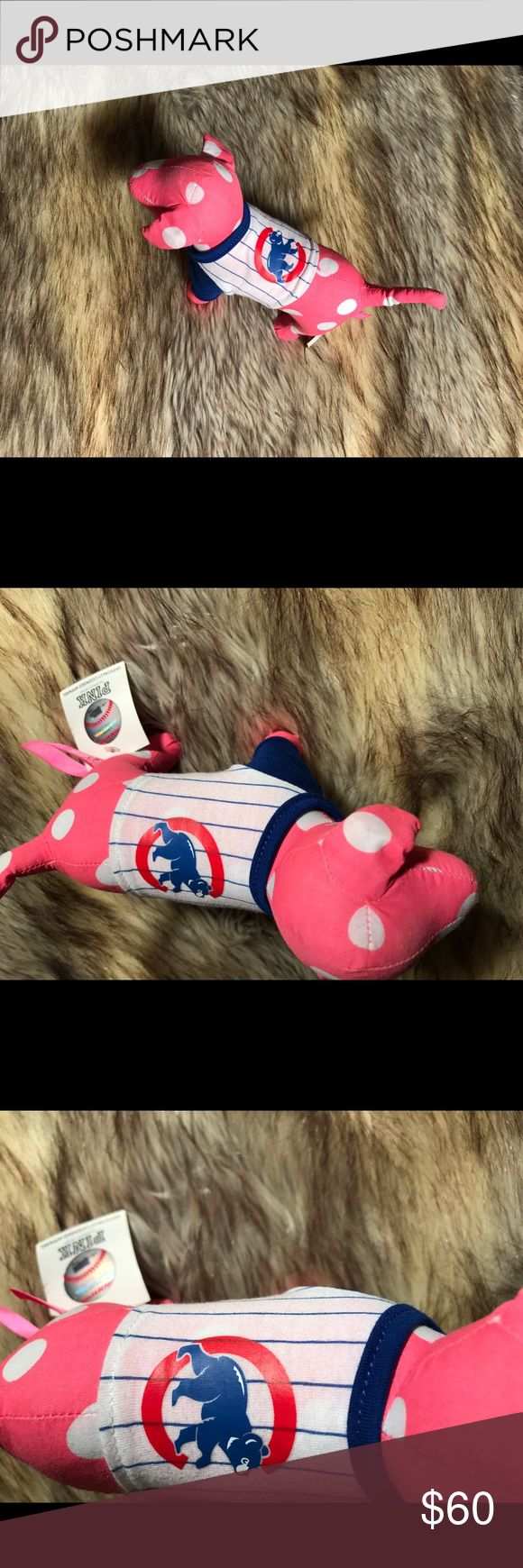Victoria's Secret Pink Chicago Cubs Pink Dog Victoria's Secret Pink Chicago Cubs Pink Dog - NEW W TAGS (RARE DOGGIE)  RETAIL 15.00   ITEM HAS BEEN STORED IN A PET AND SMOKE FREE HOME  THANKS FOR LOOKING :) PINK Victoria's Secret Accessories