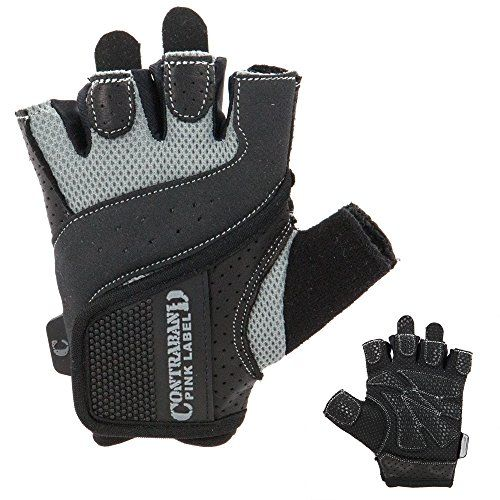 Contraband Pink Label 5137 Womens Weight Lifting Gloves w GripLock Padding PAIR Gray Large ** You can find out more details at the link of the image. (Note:Amazon affiliate link)