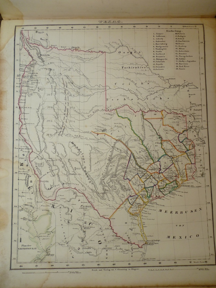 1855 german world atlas map of texas magnificent maps pinterest gumiabroncs Image collections