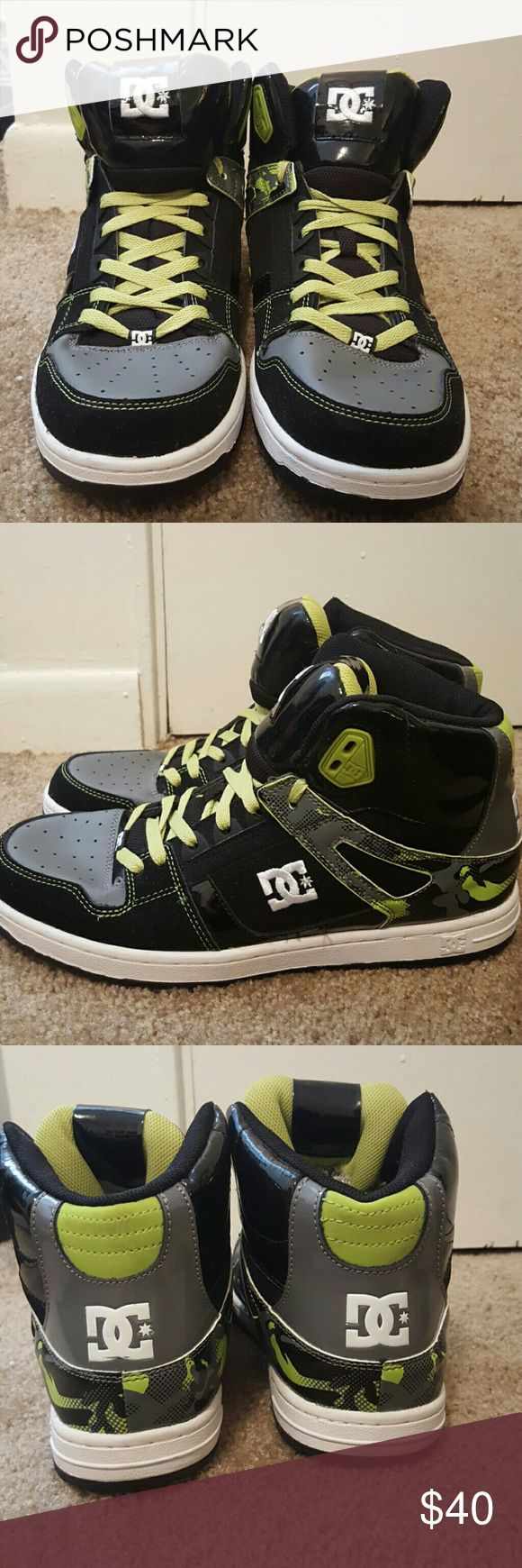 Green & black DC skate shoes never worn Green & black DC's, never worn! Perfect condition. DC Shoes Sneakers