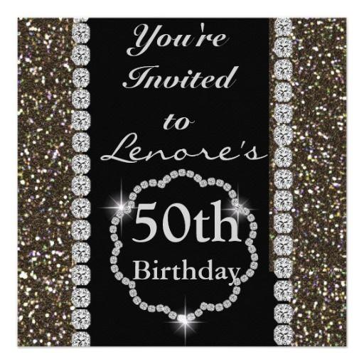 25 best 50th birthday invites images on Pinterest Invitations 50