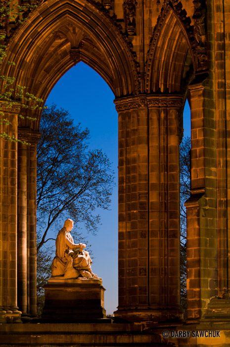 The Scott Monument in Edinburgh, Scotland.