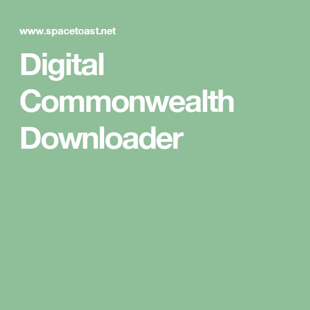 Digital Commonwealth Downloader
