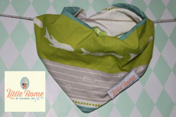 Little Rome's super absorbent 100% Organic cotton and bamboo pleated dribble bibs. Geo Plane. One size. 0-5 years