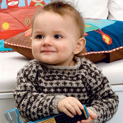 Strik for en god sag: Uldtrøje til baby