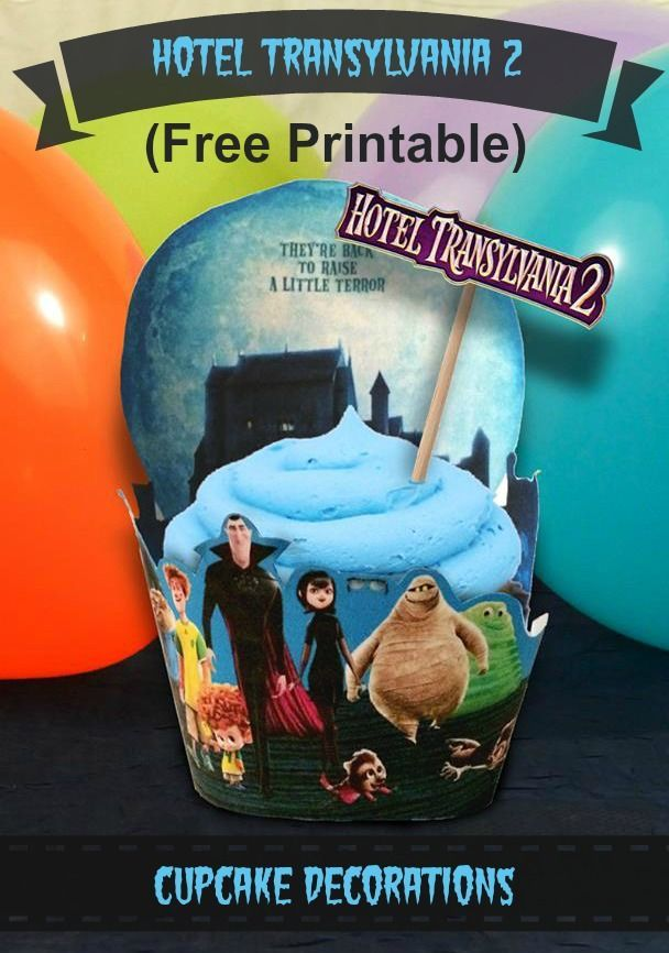 Hotel Transylvania 2 cupcake decorations party decorations
