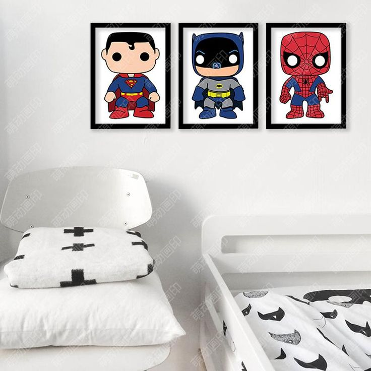 Batman Spider-Man Posters And Prints Wall Painting Canvas Art Print Wall Pictures For Living Room Nordic Decoration No Frame Write Review