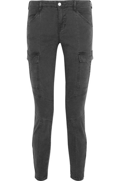 J Brand | Houlihan cropped stretch-cotton twill skinny pants | NET-A-PORTER.COM