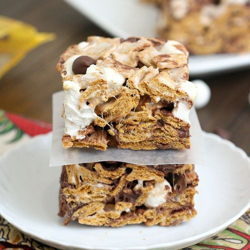 Tracey's Culinary Adventures: Golden Graham S'mores Squares