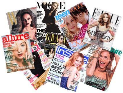 I enjoy collecting and reading fashion magazines