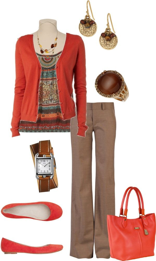 """Work outfit"" by kaybraden on Polyvore  I'd wear this with a beige skirt."