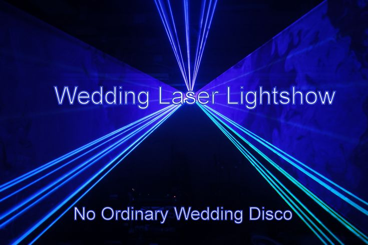 Adding a show quality laser is something that will make your wedding stand out even more. It can be used to write your names on the wall and for dynamic beam shows later on in the night. Note you cannot use any cheap laser for this effect - this one cost over £2000 with the software. - DJ Martin Lake