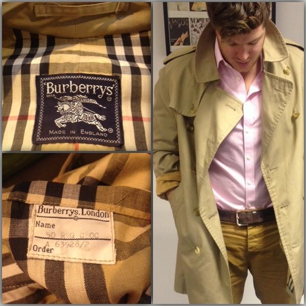 An original 1980 Burberry men's trench coat has been donated to The Clothes Line - complete with original order label! Perfect for his wardrobe or hers...