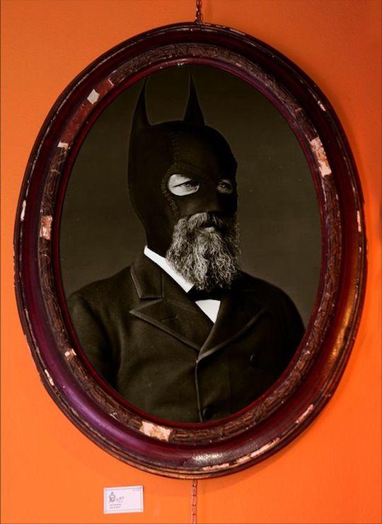 Batman - Des portraits de super-héros façon 19ème siècle