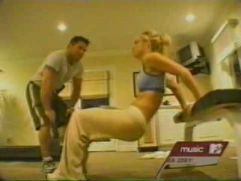 "Britney Spears' ""Slave For You"" workout from 2001. Looks pretty intense. You can even see her doing the workouts in the MTV Diary clip."