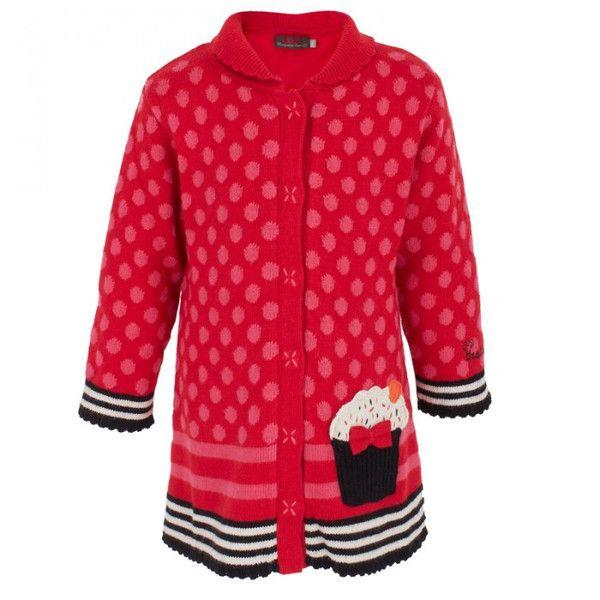 Catimini Knitted coat cupcake