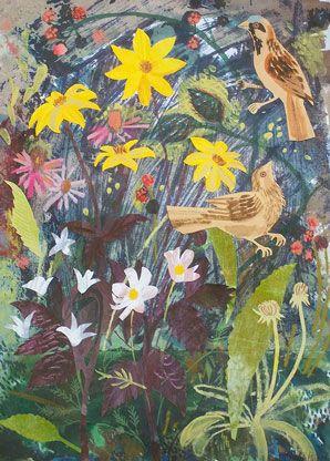'Sparrow & Bishop of York'  by Mark Hearld (collage)