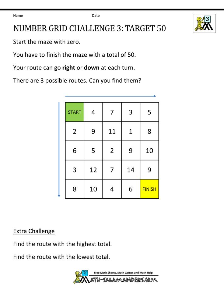 Math Puzzle Worksheets 3rd Grade Maths Puzzles Number Grid Free Math Adding and subtracting worksheets tes