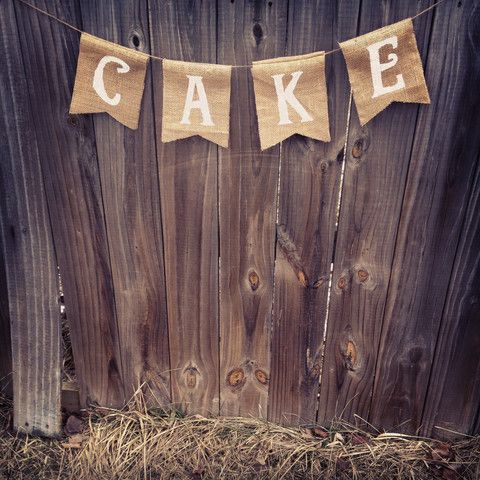 Cake banner, hang by the wedding cake! Love it!