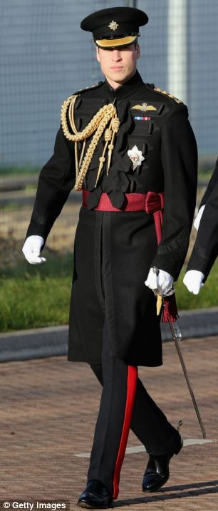 Prince William, Duke of Cambridge arrives to present service medals to First Battalion Irish Guards at Mons Barracks