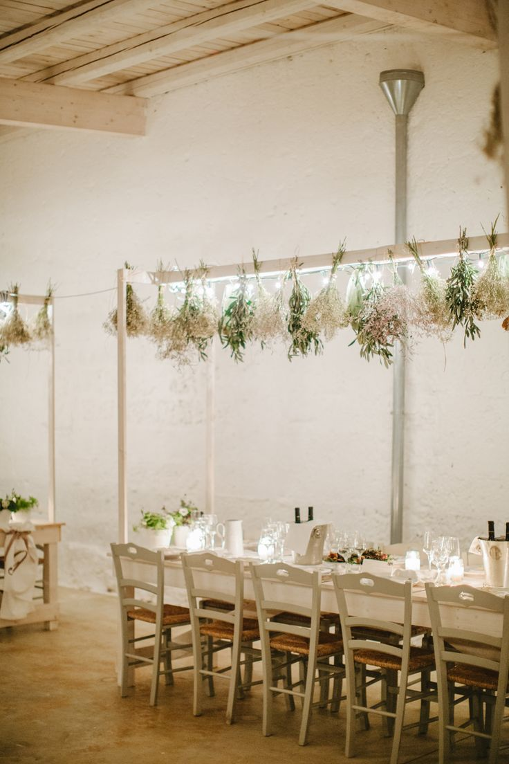 Hanging Herb Wedding Decor | photography by http://www.lesamisphoto.com