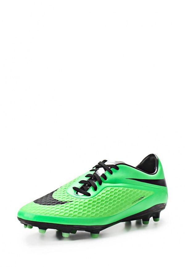 Бутсы Nike / Найк Цвет: зеленый. Материал: искусственная кожа. Сезон: Весна-лето 2014. С бесплатной доставкой и примеркой на Lamoda. http://j.mp/1uOWSc9