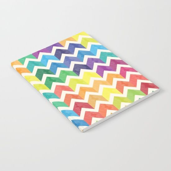 Watercolor Chevron Pattern IV Notebook