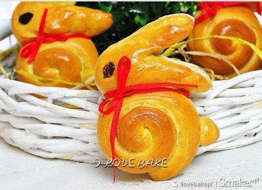 Wielkanocne bułeczki - zajączki