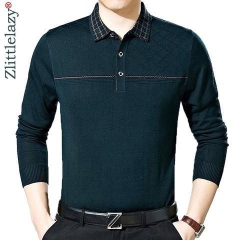 5e9290764 2018 new casual long sleeve business mens shirts male solid fashion brand  polo shirt designer men