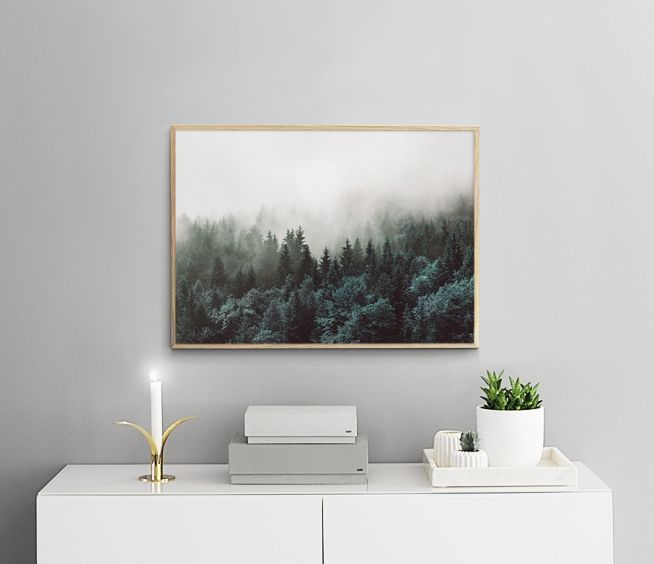 Poster with a photo of nature and a forest   Print   Desenio