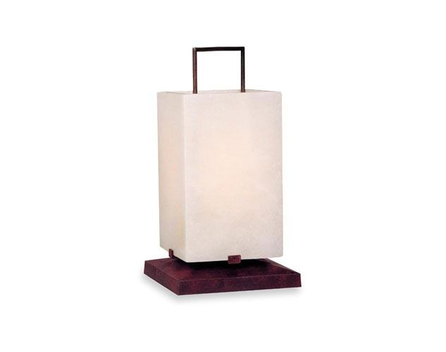 Finishes available:  Forge black/ brown or slated coloured steel.  Alabaster shade.