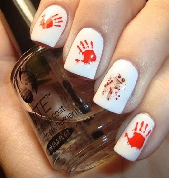 A potential Halloween Mani......Voodoo Running From My Magic....Yep, I'm a dork