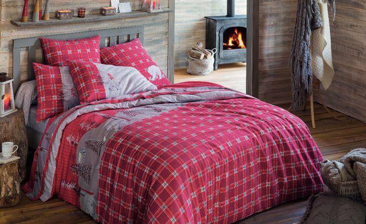 Linge de lit en flanelle Mon rêve au Canada Rêve de cocoon pour sourire à l'hiver