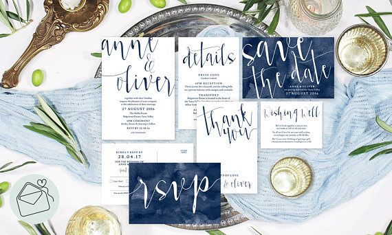 Midnight Navy Watercolour Set Elegant Navy Blue Wedding Invitations Navy Blue Wedding Invitations Gold Simple Navy Wedding Invitations Navy Blue Wedding Invitations Colour Scheme Navy Wedding Invites Ideas Navy Wedding Invites Inspirations by Sail and Swan