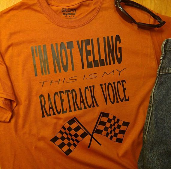 IM NOT YELLING this is my Race Track Voice with double checkered flags...Teal, Gray, Neon Pink, Orange, White, Black, Pink Glitter, Gold Glitter, Silver Glitter If you have a color combination you would like that is not listed in the drop down but among the colors noted, request a