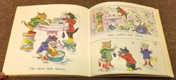 Three Little Kittens illustrated by Lilian Obligado 5