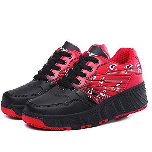 iBaste Schuhe mit Rollen Rollschuhe mit Drucktaste Kinder Jungen Mädchen Sportschuhe Tanzschuhe Sneaker Turnschuhe Skaterschuhe - http://on-line-kaufen.de/ibaste-9/ibaste-schuhe-mit-rollen-rollschuhe-mit-kinder