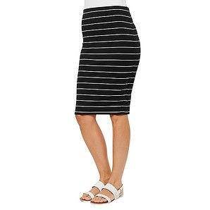 Stripe+Tube+Skirt+-+Black+/+White+–+Target+Australia