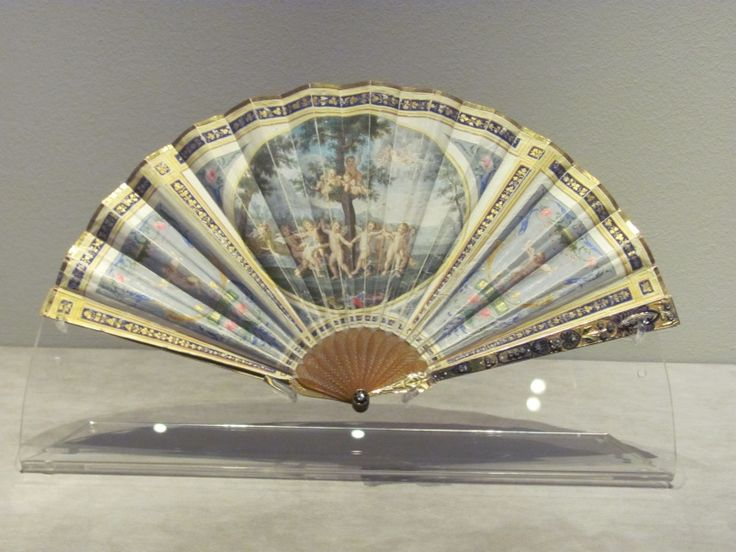 Hand Fan - gouache on vellum, tortoiseshell, ivory, gilding, enamel, diamonds, circa 1790 -  collections of His Majesty the King of Sweden