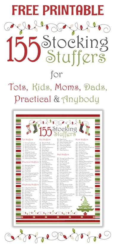 155 Stocking Stuffer Ideas Plus Free Printable