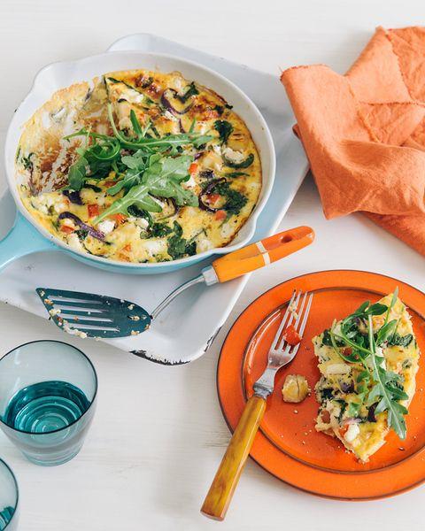 Potato, Spinach & Feta Tortilla