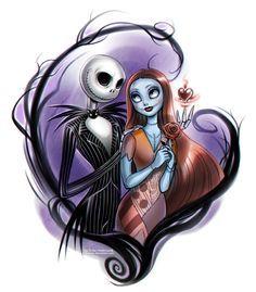 Nightmare Before Christmas: Jack and Sally by daekazu.deviantart.com on @DeviantArt